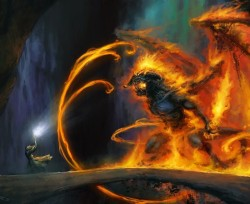 Gandalf vs Balrog art