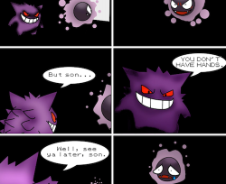 Gengar uses dream eater on gastly