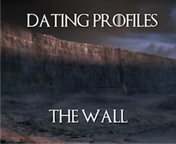 The Wall Dating Profile Pic