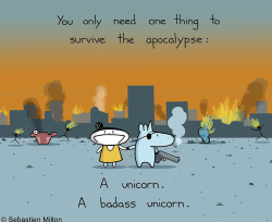 Beating the apocalypse with a unicorn