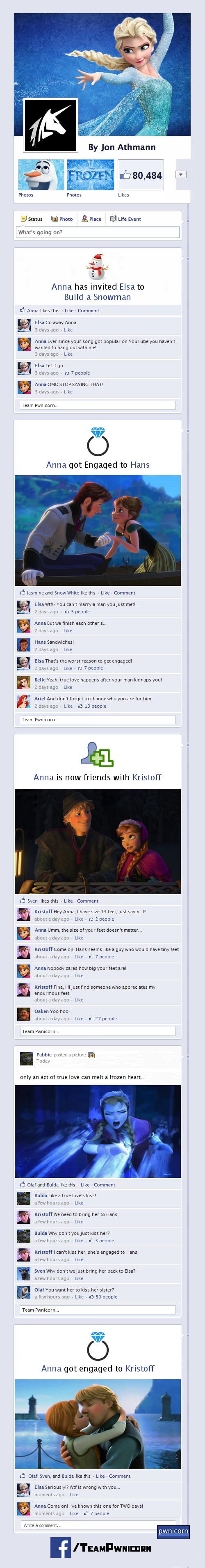 Frozen told through facebook from team pwnicorn and funny or die voltagebd Images